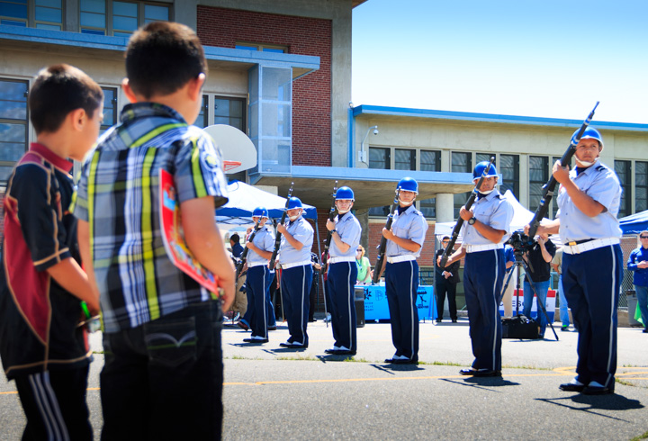 ROTC performing